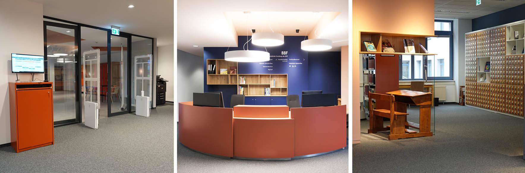 Eingangs- und Loungebereich der BBF