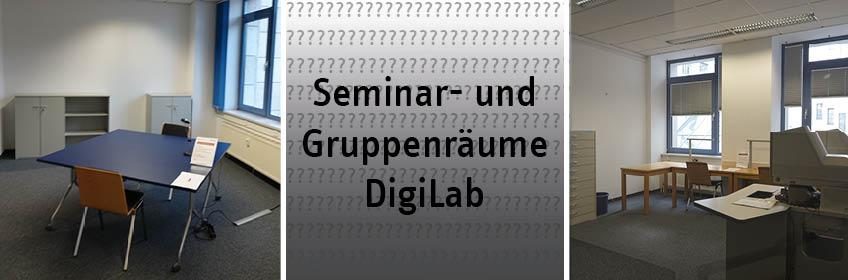 Seminar- und Gruppenarbeitsbereich der BBF mit DigiLab, Multimediaraum