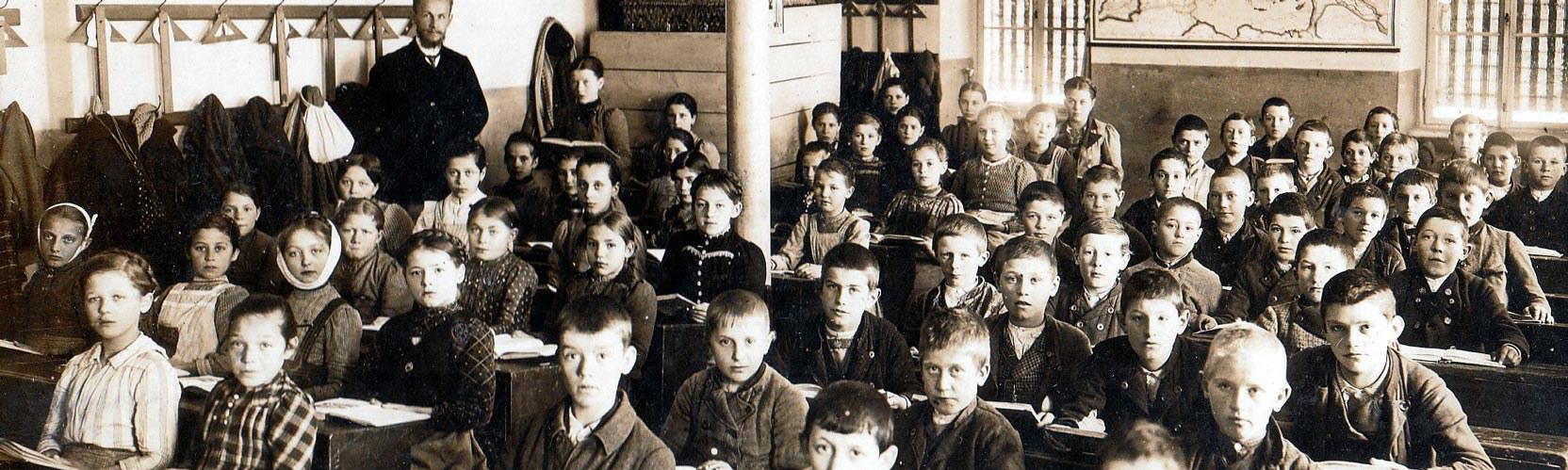 Schulklasse, Bayern um 1910