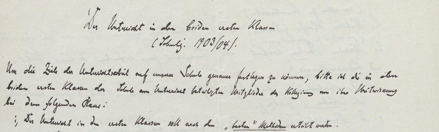 Handschrift Hugo Gaudigs
