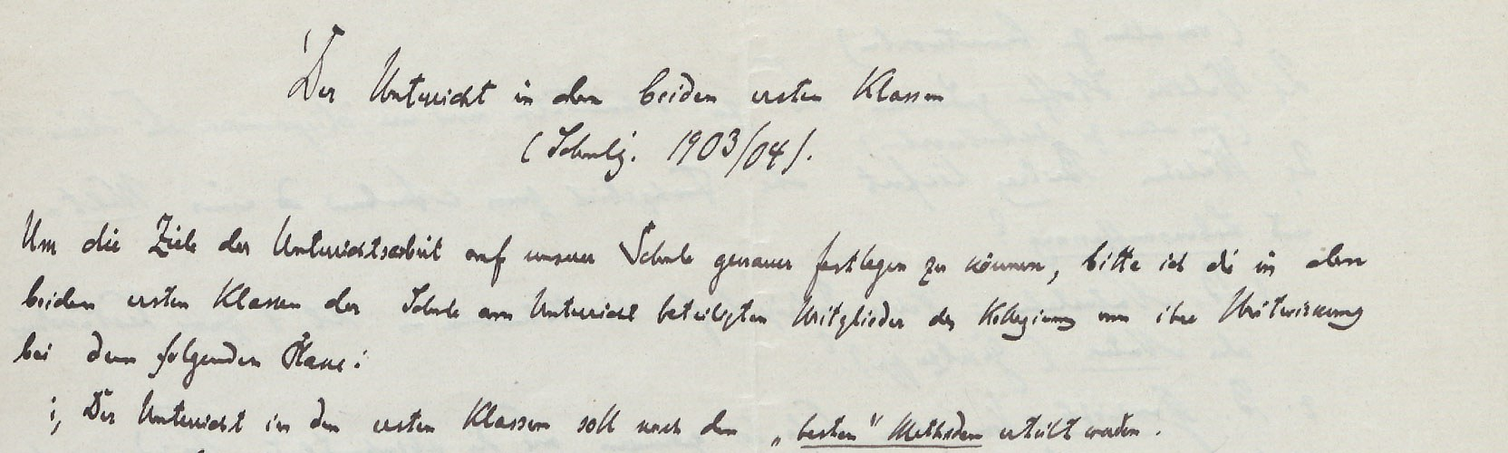 Autograph of Hugo Gaudig