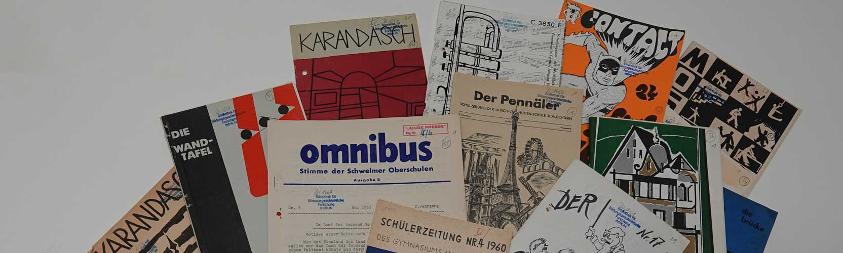 Covers of student journals